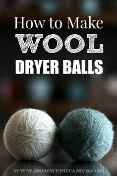 I've been using wool dryer balls for a while now. They're round, woolen balls that you toss into the dryer with a load of laundry. They reduce the drying time, which saves money. They also soften the laundry and reduce static cling, which always amazes me. What I really like is that there are no che…