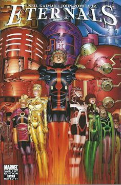 Eternals #7 variant. Art by John Romita Jr.