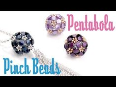 How to make a Pentabola beaded bead with Pinch Beads ~ Seed Bead Tutorials