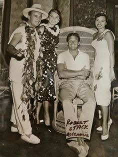 Celebrities in a Peacock Chair -- Tiki Central