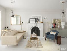 One Room Two Ways: My (virtual) Living Room Makeover with Modsy ...