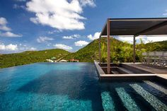 Beautiful View in Swimming Pool - Luxury Villa Holidays with Stylish Caribbean Hideaway Idea