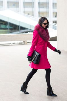 Coat: Alice and Olivia(on sale!!) | Turtleneck: Nordstrom | Skirt: Elizabeth and James | Tights: Nordstrom | Booties: Derek Lam (similar style) | Glasses: Celine (similar style) | Bag: Chanel via Fashionphile c/o | Earrings: Nadri |Gloves: Nordstrom | Lips:Risk It All by Bare Minerals c/o … I want to thank everyone for all the [&hellip