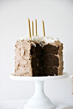 3 layer chocOlate cake with buttercream and coconut flakes (no recipe)