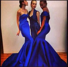 Zac Posen Cobalt Blue Formal Dresses Wear Evening