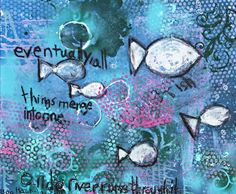 "A River Runs Through It painting by 6-year-old ""Boo"" Hackshaw via lilblueboo.com (bid for a cause)"