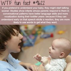 Pretend you understand your baby - WTF fun fact WTF Facts : funny, interesting & weird facts Funny Weird Facts, Wtf Fun Facts, Kids And Parenting, Parenting Hacks, Facts For Kids, Celebrity Babies, Celebrity Blogs, Psychology Facts, The More You Know
