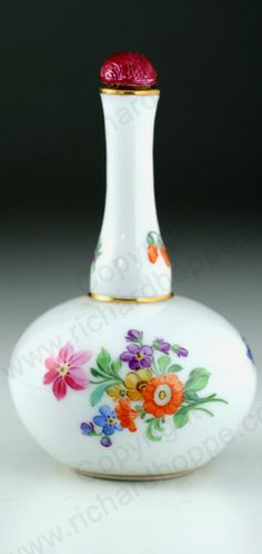 ANTIQUE & VINTAGE SCENT PERFUME BOTTLES. Meissen porcelain, mid to later 19th century. To visit my website click here: http://www.richardhoppe.co.uk or for help or information email us here: info@richardhoppe.co.uk