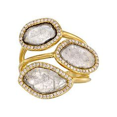 Ross-Simons - 2.55 ct. t.w. Natural Diamond Slice Ring in 18kt Yellow Gold - #760361