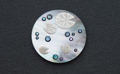 わたつみの珠 for 茶散歩(- 伯兆 / hakutyou -): 作品: 野庵 yarn 着物小物のお店 (根付、帯留、かんざし、簪、和小物 等)