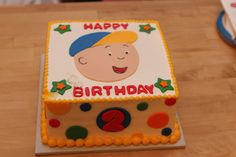 Caillou cake for son's 2nd birthday