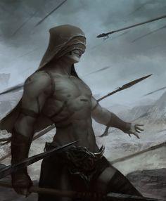 ArtStation - Ancient force warrior, Manuel Castanon