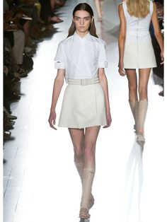 Victoria Beckham Cut Out Shirt Spring 2013 Runway - Best Trends from Spring 2013 Fashion Week - Marie Claire