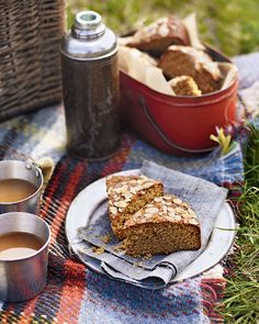 Gill Meller's sweet, spiced ginger cake is made with honey, molasses and almonds and tastes better as it sits in the tin. Make it a day or two in advance then pack it for a picnic.