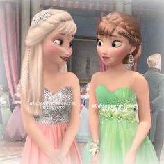 Prom ft. Anna and Elsa Since so many others were making prom edits, I thought I might as well Do you prefer Elsa or Anna in this edit?