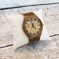 Personalized Wood Wrist Watch - Custom Groomsmen gift - Accessories Fathers Day Gift - Best Man - Gifts for Men - FREE ENGRAVING! (MW3) (59.95 USD) by donebetter