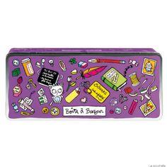 Boîte à Bazar GM - Violet - Derrière la Porte - DLP - Décoration pratique et boite de rangement/Boîte métal derrière la porte - espritlogis-...