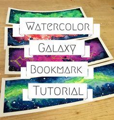 Watercolor Galaxy Bookmark Tutorial