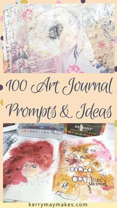 100 Art Journal Prompts and Journaling Ideas to inspire your creativity in your art journals, journaling and creative journals. Use them however you like for art, painting, watercolour, journal prompts or photos for memory keeping. Journal D'art, Art Journal Prompts, Art Journal Techniques, Creative Journal, Art Journal Pages, Creative Art, Art Journals, Journal Ideas, Art Journal Challenge