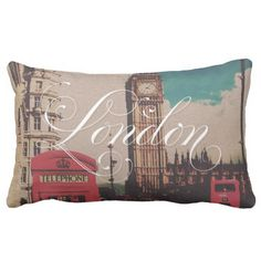London - Vintage - Throw Pillow