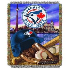 Toronto Blue Jays MLB Home Field Advantage 48 X 60 Woven Tapestry Throw for sale online Mlb Blue Jays, Blue Throws, Toronto Blue Jays, Chicago White Sox, Tapestry Weaving, Major League, Team Logo, Blanket, Special Events
