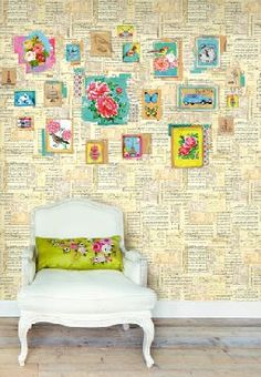 gives me the idea of papering a wall with pages from a favourite novel.