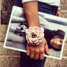 Handmade crochet bracelet #handmade #crochet #flower #knitting #bracelet