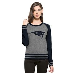 NFL New England Patriots Womens 47 Neps Pullover Sweater Medium Slate Grey Neps ** For more information, visit image link.