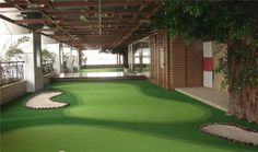 Golf Channel Chipping Tips Home Putting Green, Artificial Putting Green, Artificial Turf, Golf Simulators, Chipping Tips, Golf Tips For Beginners, Golf Channel, Backyard Landscaping, Landscape Design