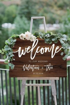 50 Handmade Wedding Signs You'll Love!   The Perfect Palette Rustic Wedding Decorations, Rustic Wedding Signs, Wedding Welcome Signs, Signs For Weddings, Unique Weddings, Wedding Centerpieces, Destination Wedding Planner, Wedding Planning, Wedding In The Woods
