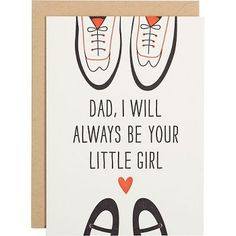 Send the first man in your life a little Thank You for always being there. Two pairs of shoes face each other on the front of this cute card. Blank inside. Letterpress printed in Chicago, Illinois.<br