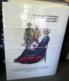 Vintage 1980 MOTHER'S DAY Horror Movie ORIGINAL MOVIE POSTER Charles Kaufman