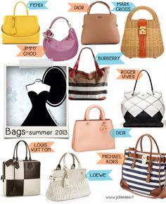 Borse Estate 2013 /Bags summer 2013 - Le novità e le collezioni più desiderate #shoppinglist #wishlist #bags