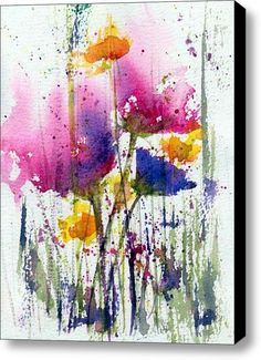 Meadow Medley Stretched Canvas Print / Canvas Art By Anne Duke