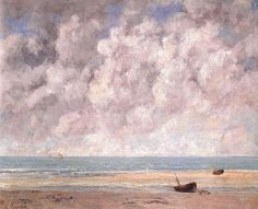 """artist-courbet: """"The Calm Sea, Gustave Courbet Medium: oil, canvas"""" Tachisme, Art Français, Gustave Courbet, French Paintings, Art Database, Realism Art, French Art, Famous Artists, Traditional Art"""