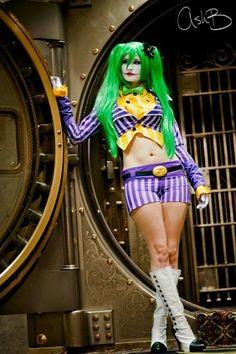 GammoGahato Cosplay als The Joker Batman Cosplay, Female Joker Cosplay, Comic Con Outfits, Emo Outfits, Star Trek Outfits, Joker Images, Under Dress, Joker And Harley Quinn, Geek Girls