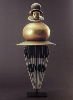 #Bauhaus #Sculpture - Oskar Schlemmer, Triadic Ballet Costume, 1922
