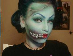 Pinup zombie makeup