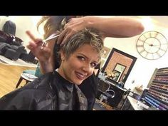 How My Stylist Cuts and Colors My Longer Pixie - YouTube