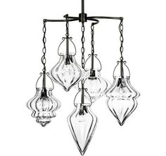 4-Arm Cristallo Chandelier w/Center Diffuser - $4,520