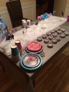 Frozen cake table