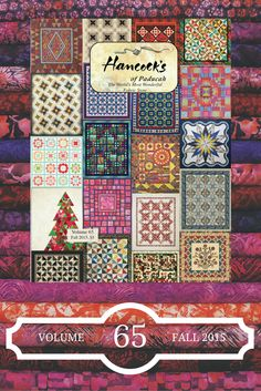 Shop Hancock's of Paducah Volume 65 Catalog for quilting Fall 120 pages packed with the best quilting fabrics, precuts, & quilt kits! Quilting For Beginners, Quilting Tips, Machine Quilting, Quilting Projects, Quilting Designs, Sewing Projects, Jelly Roll Quilt Patterns, Quilt Patterns Free, Quilt Kits For Sale
