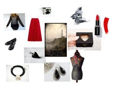 """""""Black with Red"""" by msbsdesigns ❤ liked on Polyvore featuring Balenciaga"""