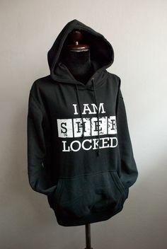 SHERLOCK Hoodie I AM SHERLOCKED hoodie by SummerIsComing on Etsy @Jamie Davis Davis please???