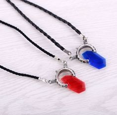 Dropshipping Devil May Cry 5 Choker Necklace DMC Dante Pendant Necklace Cosplay Red Blue Stone Friendship Women Men Necklace Men Necklace, Pendant Necklace, Devil May Cry, Crystal Pendant, Crystal Jewelry, Leather Chain, Pu Leather, Dmc, Choker