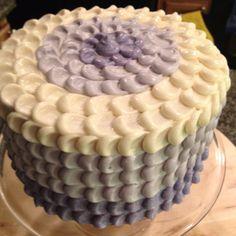 Lavender Ombre Petal Cake