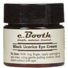 C. Booth Black Licorice Eye Cream -- $11.95 on Amazon.  http://www.deliciousbrandsllc.com/.  See if Ulta, Walgreens, HEB, or Kroger has it.  (Bought at Ulta once, check there again.)