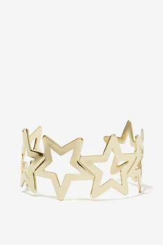 Seeing Stars Cuff - Accessories   Bracelets   Gold