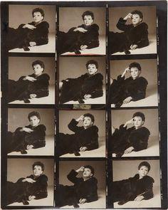 Proof Sheet of Judy Garland by Richard Avedon