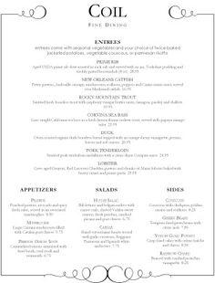 french fine dining menu ideas. fine dining french menu ideas h